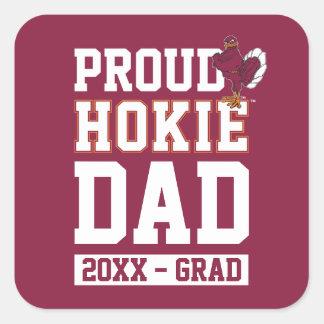 Proud Hokie Dad Class Year Square Sticker