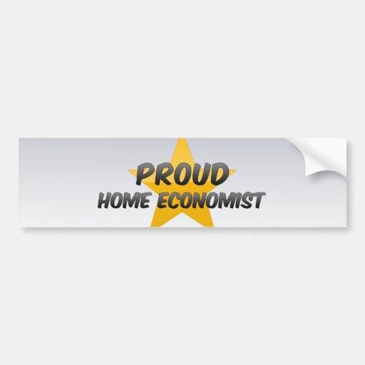 Proud Home Economist Car Bumper Sticker