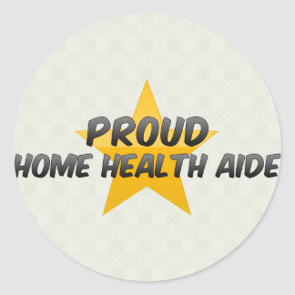 Proud Home Health Aide Classic Round Sticker
