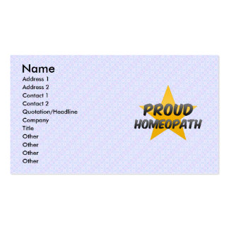 Proud Homeopath Double-Sided Standard Business Cards (Pack Of 100)