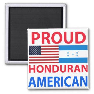 Proud Honduran American 2 Inch Square Magnet