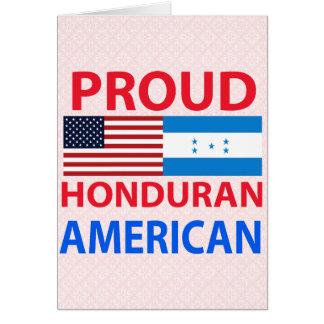Proud Honduran American Greeting Cards