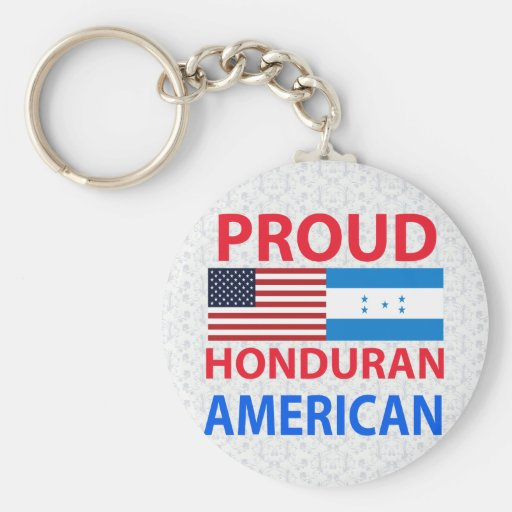 Proud Honduran American Key Chains