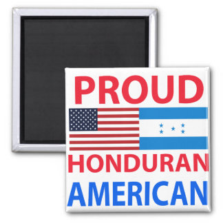 Proud Honduran American Refrigerator Magnet