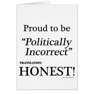 Proud & Honest Card