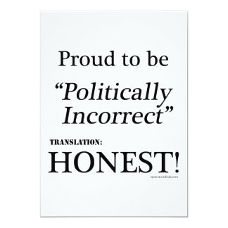 Proud & Honest 5x7 Paper Invitation Card