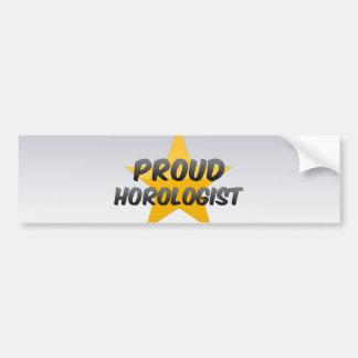 Proud Horologist Car Bumper Sticker