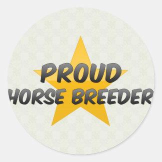 Proud Horse Breeder Classic Round Sticker