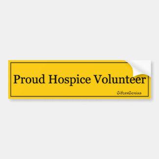Proud Hospice Volunteer (2) Car Bumper Sticker
