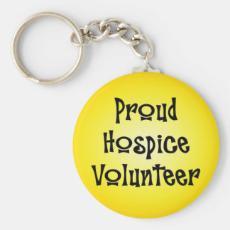 Proud Hospice Volunteer Basic Round Button Keychain