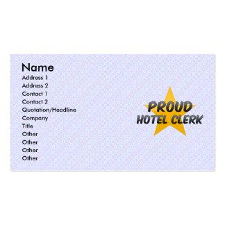 Proud Hotel Clerk Business Card Template
