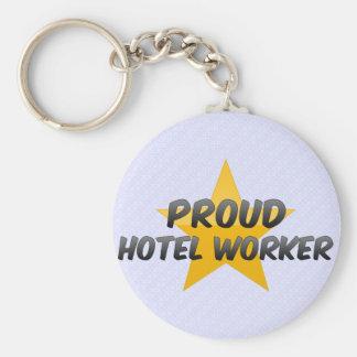 Proud Hotel Worker Basic Round Button Keychain