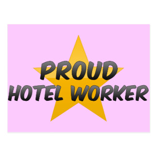 Proud Hotel Worker Postcard