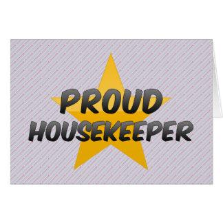 Proud Housekeeper Greeting Card