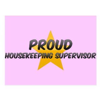 Proud Housekeeping Supervisor Post Cards