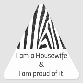 Proud Housewife Triangle Sticker