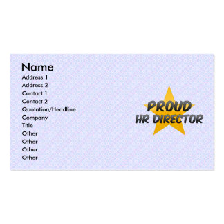 Proud Hr Director Double-Sided Standard Business Cards (Pack Of 100)