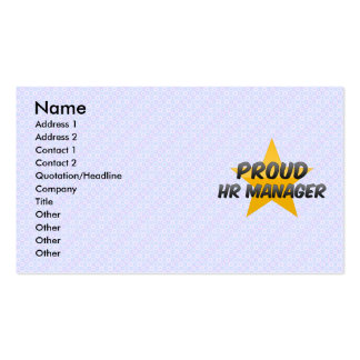 Proud Hr Manager Double-Sided Standard Business Cards (Pack Of 100)
