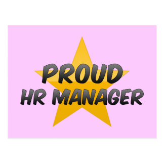 Proud Hr Manager Postcard