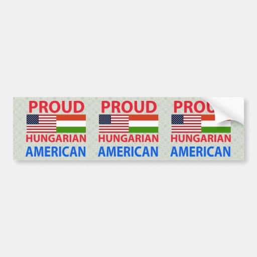 Proud Hungarian American Bumper Stickers