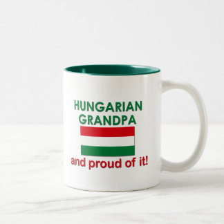 Proud Hungarian Grandpa Two-Tone Coffee Mug