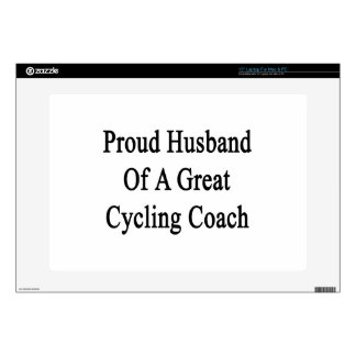 "Proud Husband Of A Great Cycling Coach Skin For 15"" Laptop"