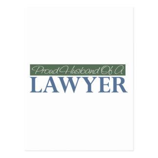 Proud Husband Of A Lawyer (Green) Postcard