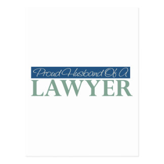 Proud Husband Of A Lawyer Postcard