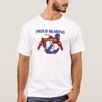 Proud Husband of a US Sailor T-Shirt