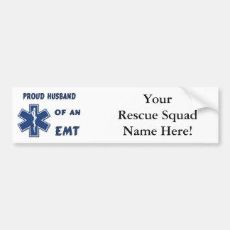 Proud Husband Of An EMT Bumper Stickers