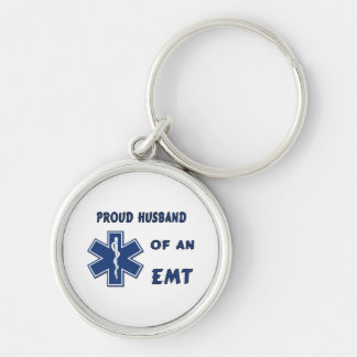 Proud Husband Of An EMT Key Chains