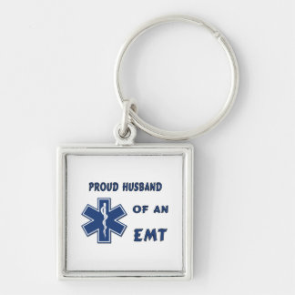 Proud Husband Of An EMT Keychains