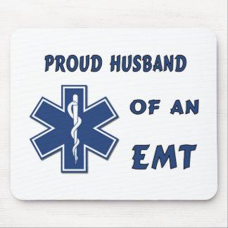 Proud Husband Of An EMT Mousepads