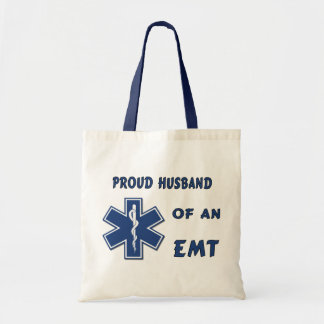 Proud Husband Of An EMT Tote Bags