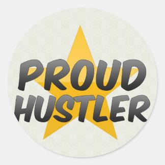 Proud Hustler Classic Round Sticker
