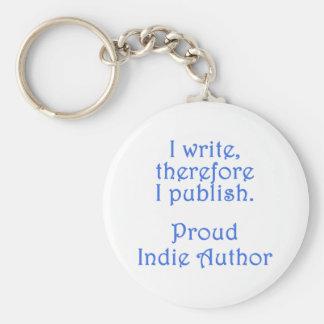 Proud Indie Author Basic Round Button Keychain