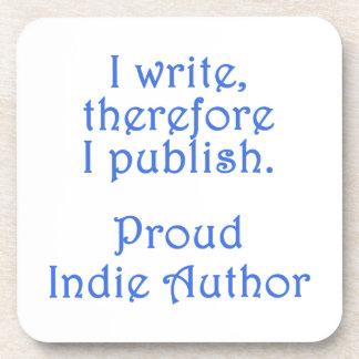 Proud Indie Author Beverage Coaster