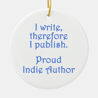 Proud Indie Author Double-Sided Ceramic Round Christmas Ornament