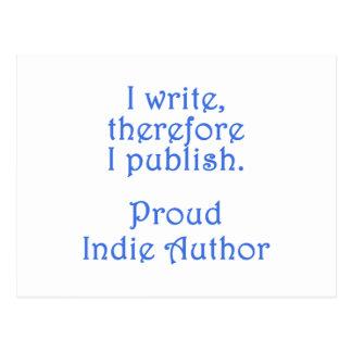 Proud Indie Author Postcard