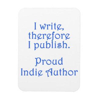 Proud Indie Author Rectangular Photo Magnet