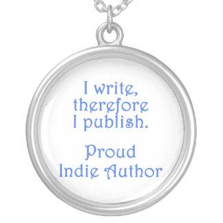 Proud Indie Author Round Pendant Necklace