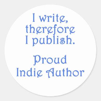 Proud Indie Author Classic Round Sticker