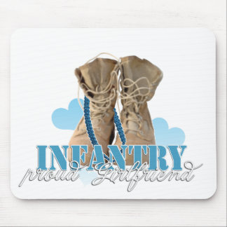 proud infantry girlfriend mouse pad