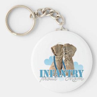 proud infantry mom basic round button keychain