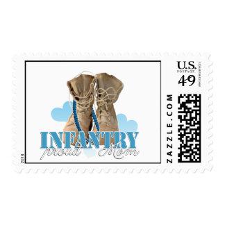 proud infantry mom postage