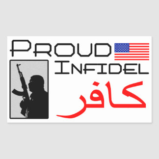 Proud Infidel Rectangular Sticker