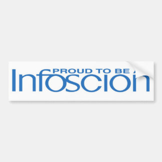 Proud Infoscion Bumper Sticker! Bumper Sticker