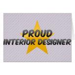 Proud Interior Designer Greeting Card