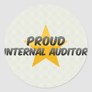 Proud Internal Auditor Round Stickers