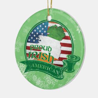 Proud Irish American Christmas Decoration Ornament